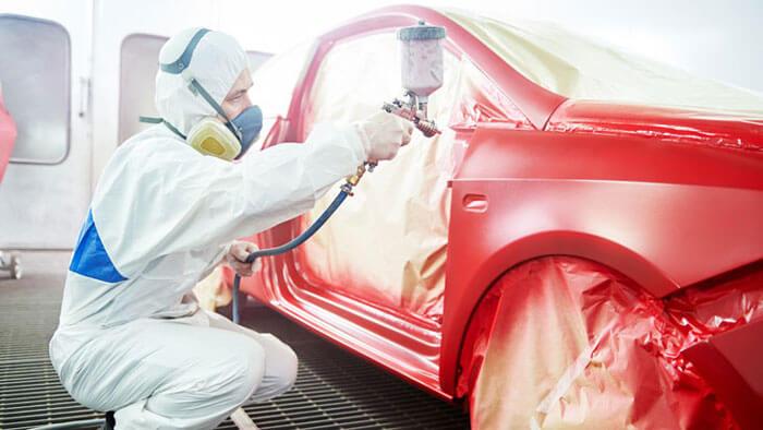 verniciatura auto con sistema robodry symach