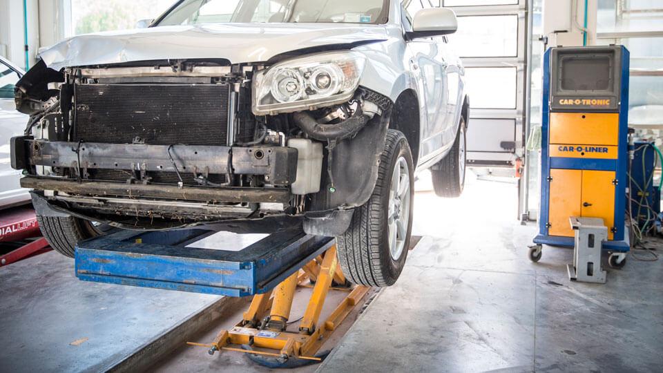 raddrizzatura telaio auto con sistema car-o-liner
